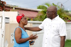 THA Chief Secretary Kelvin Charles talks with Delia Joseph.