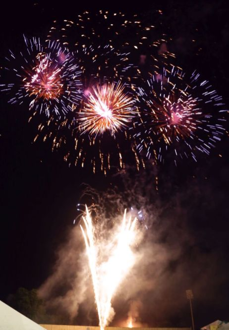 Highlights from the fireworks show.