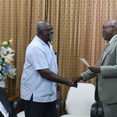 The Canaan/Bon Accord Methodist Church gets support, which is received by Jonathan Daniel.