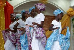 A group of youth dancers perform during the anniversary celebrations.