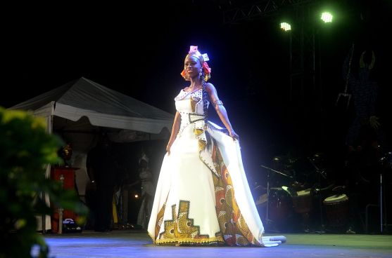 First place in the Windward Afro Queen competition Gabriel Jack.