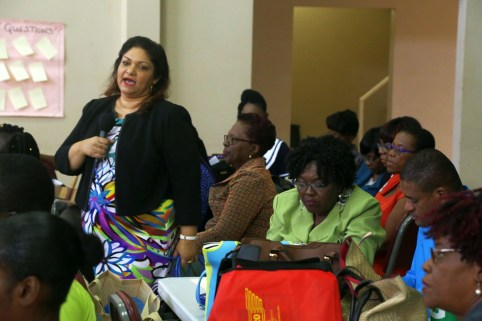Curriculum coordinator Ingrid Kemchand who leads the Ministry of Education's workshop training team.
