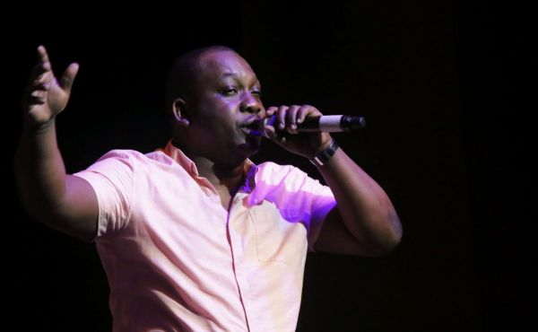 """Winner of the Calypso segment, Keron McMillan (Trinidad and Tobago Police Service), sings here """"Drink What You Like."""""""
