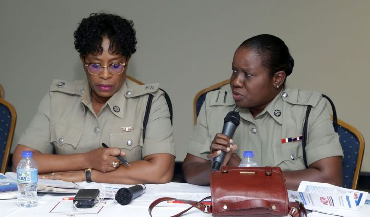 Acting Senior Superintendent Joanne Archie and ASP Suzette Woods-James.