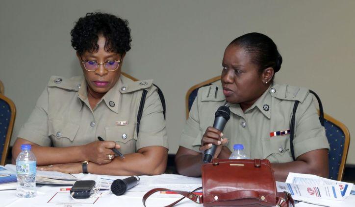 Acting Senior Superintendent Joanne Archie and ASP Suzette Woods-James.