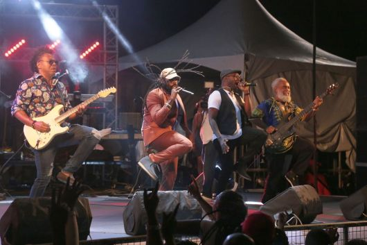 Tarrus Riley and Band during the main performance.