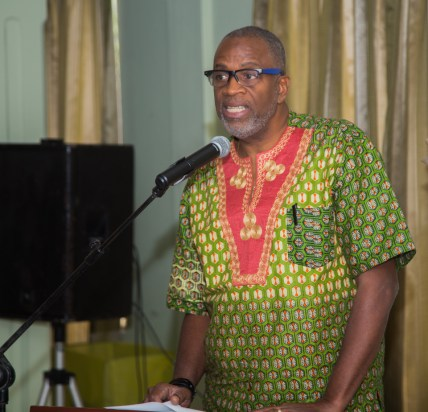 Chairman of the Tobago Festivals Commission George Leacock addresses the media and guests in attendance at the launch.