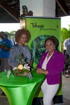 The Hon. Ayanna Webster-Roy, Minister of State in the Office of the Prime Minister and Member of Parliament for Tobago East (left) is captured at the launch with Dr. Denise Tsoiafatt-Angus, Presiding Officer of the Tobago House of Assembly.