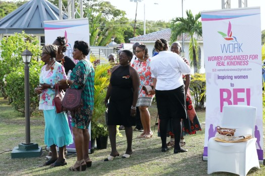 Guests arrive at the launch of the the NGO WORK.