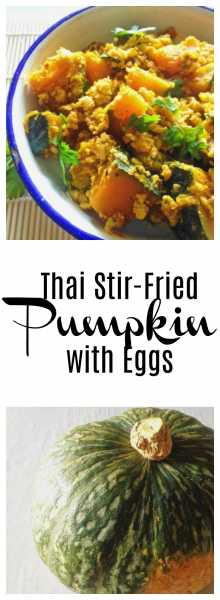 Thai Stir-Fried Pumpkin with Eggs! Love how this traditional Thai dish becomes a quick, homey weeknight meal with just a few ingredients like pumpkin, garlic and eggs!   thai-foodie.com