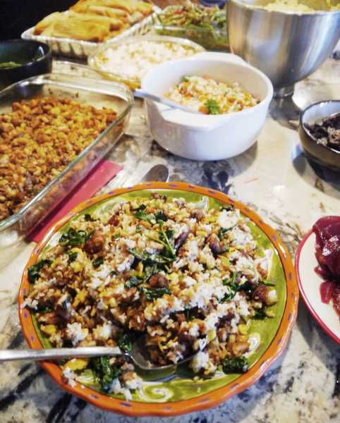 The best way to eat leftover stuffing from Thanksgiving is in stuffing fried rice! You wont want to eat stuffing any other way again! | thai-foodie.com