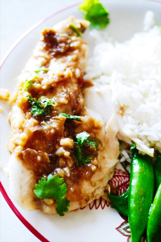 Easy Thai Steamed Fish with Spicy Tamarind Sauce