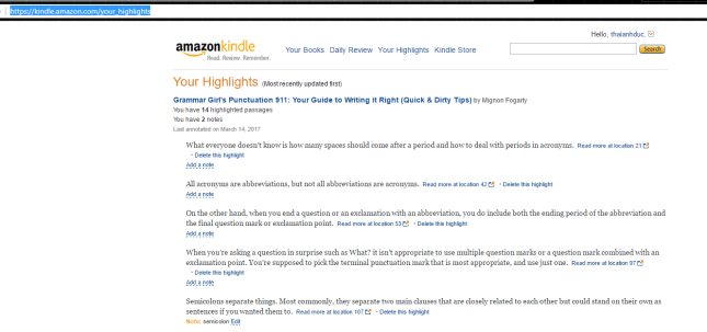 Amazon Kindle Highlights