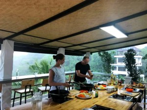 Cooking Class during stormy weather on Koh Tao