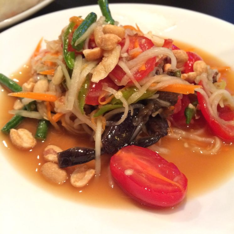 D1. SOM TUM (PAPAYA SALAD) w/Salted crab