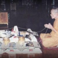 Luang Por Hyord of Wat Gaew Jaroen Blesses Amulets
