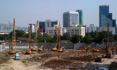Building construction site Bangkok