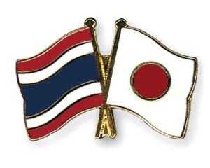 Japan Thailand flags