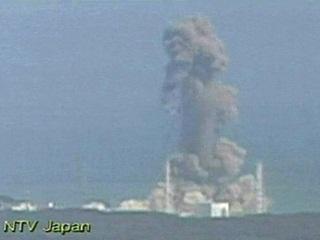 smoke ascends from the Fukushima Dai-ichi nuclear