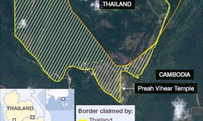 Cambodia Thailand border