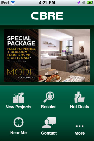 iPhone, iPad and iPod CBRE application