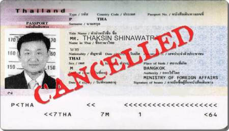 thaksin passport canceled