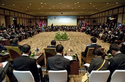Foreign ministers and government officials attend the Association of Southeast Asian Nations (ASEAN)
