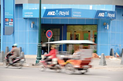 Only 4 per cent of Cambodians had an account in a bank in 2011