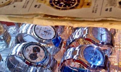 Watches displayed at MBK shopping center Bangkok