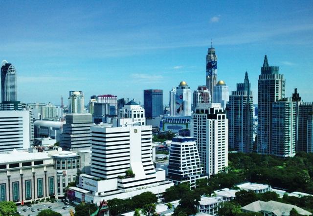 ploenchit skyline downtown Bangkok