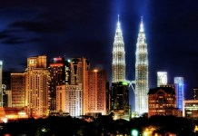KL skyline night