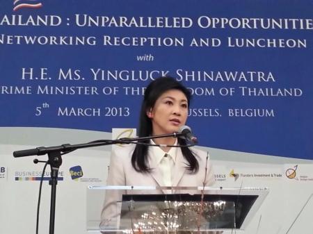 Thai PM Yingluck Shinawatra in Europe