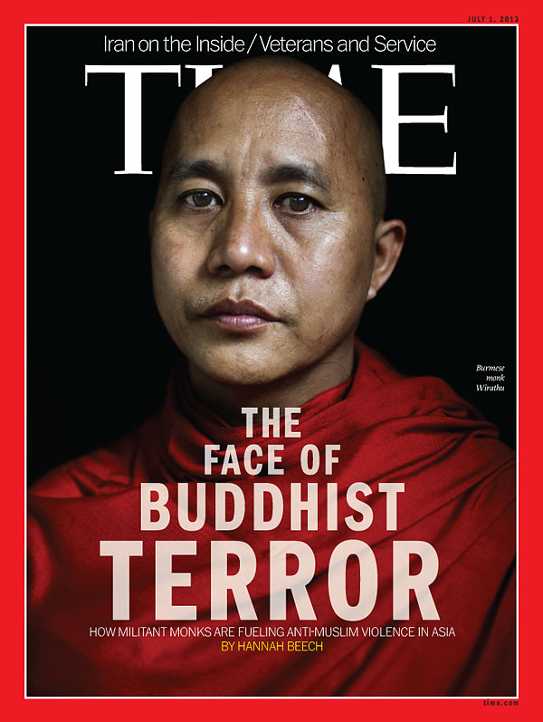 Time Magazine's July issue, which has cover story about the Burmese Buddhist monk Ashin Wirathu