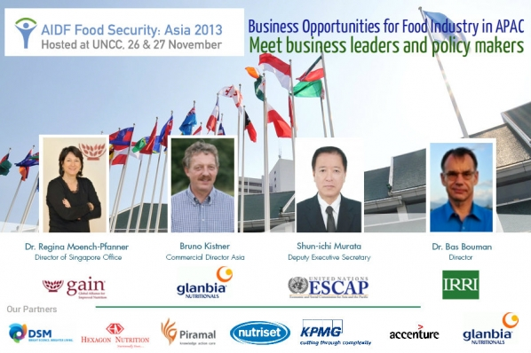 AIDF Food Security Summit, taking place at the UNCC in Bangkok on the 26th and 27th of November.