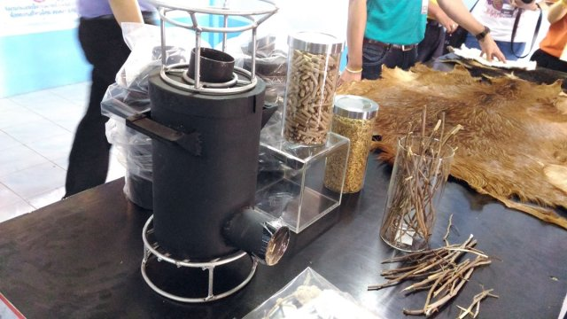 Thailand 4.0 : recycling branches, normally used as goat food, into a biofuel