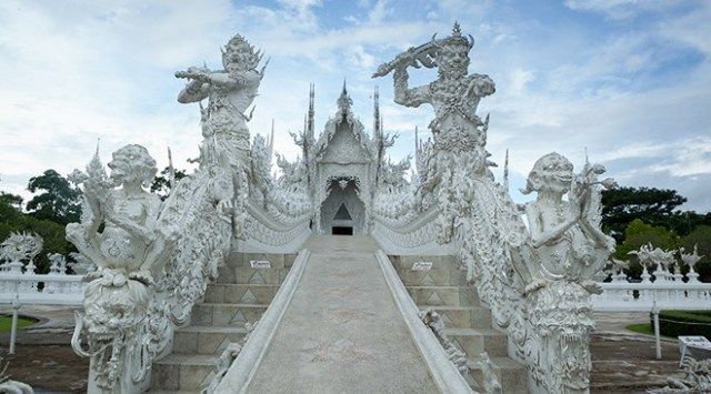 Wat Rong Khun – better known as the White Temple.
