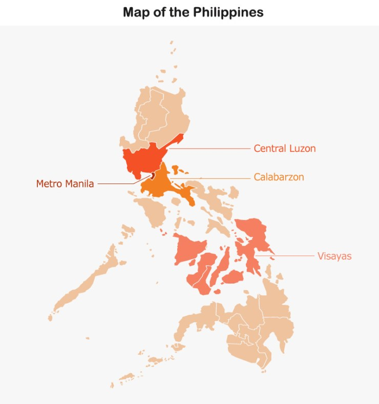 Map: the Philippines