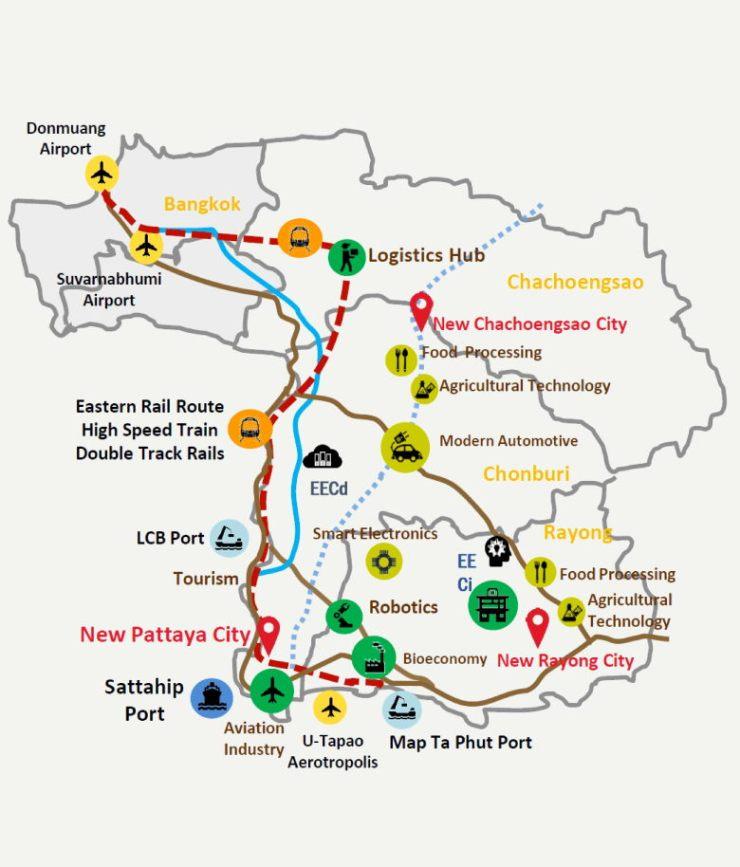 Easter Economic Corridor (EEC) has become Thailand's most attractive industrial destination for key industries