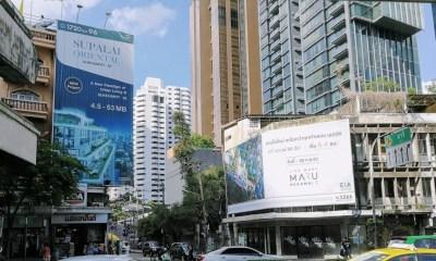 Real Estate promotion billboards in downtown Bangkok
