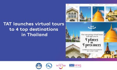 TAT launches virtual tours to 4 top destinations in Thailand