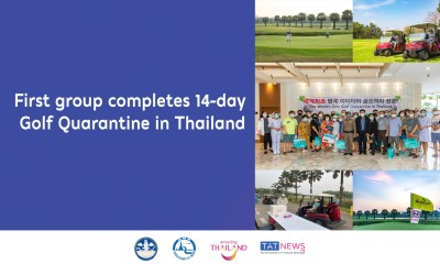 First group completes 14-day Golf Quarantine in Thailand