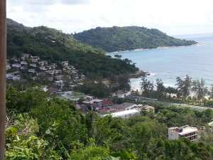 view from Karon viewpoint restaurants