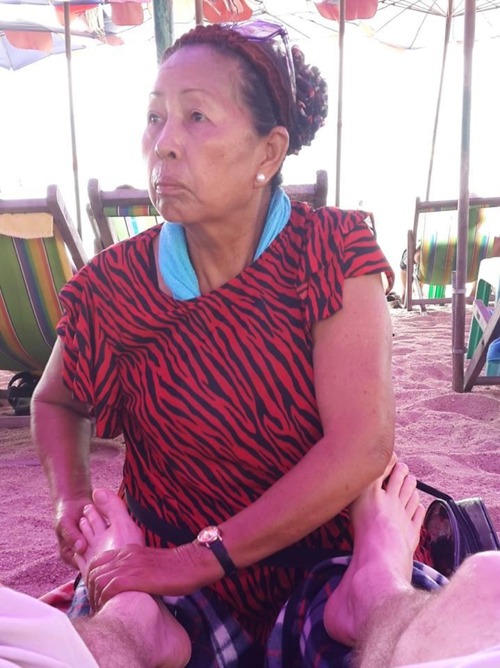 Blind massage lady in thailand