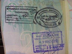 Thai visa Passport Stamped