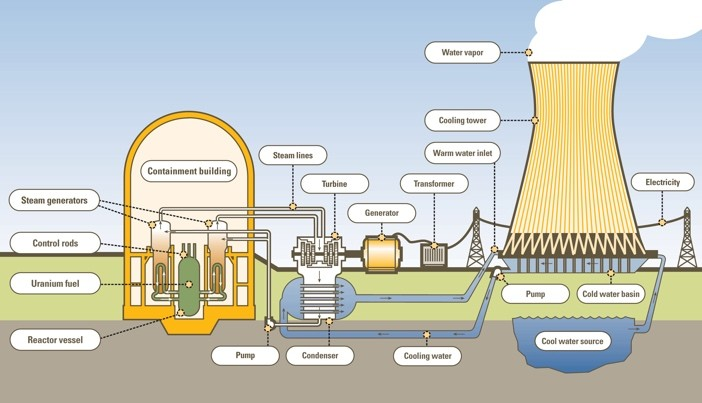 Nuclear Power Plant Schematic