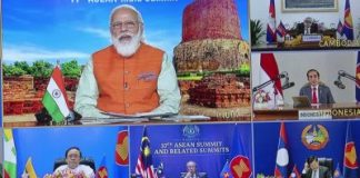 Vietnamese Prime Minister Nguyen Xuan Phuc hosted a virtual meeting between Southeast Asian leaders and Indian Prime Minister Narenda Modi during the 17th ASEAN-India summit, 12 November 2020 (Photo: Reuters/Thinh Nguyen, Minh Nguyen).
