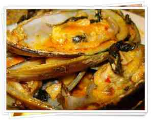 Green Mussel with Chili Paste