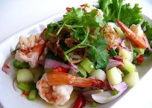 Shrimp and cabbage salad