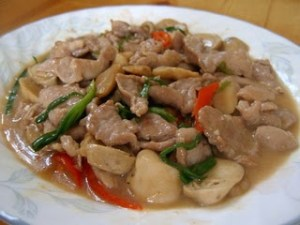 Stir-fried Pork with Oyster Sauce Thailand