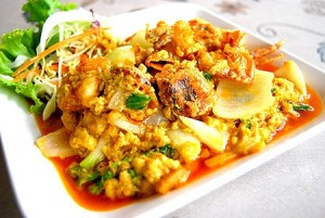 Stir-fried Seafood with Curry Powder Thailand
